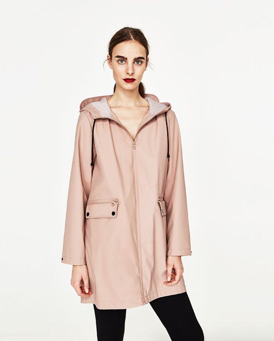 Zara parka rose - 50€