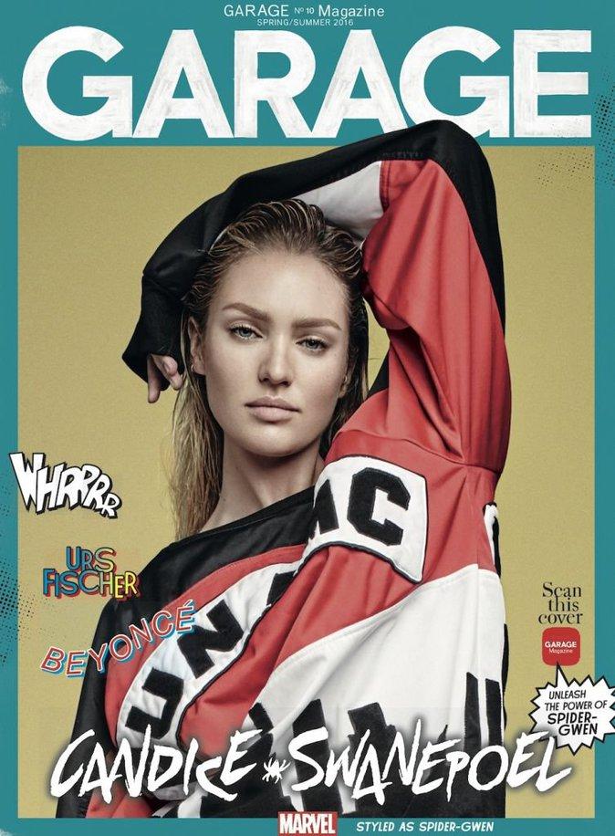Photos : Adriana Lima, Karlie Kloss et Candice Swanepoel : looks boyfriend en héros Marvel pour Garage Magazine