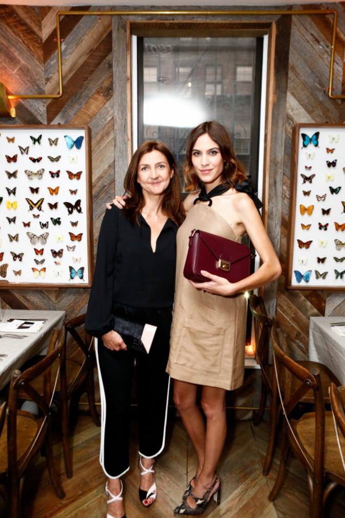Alexa Chung et Sophie Delafontaine au dîner privé Longchamp, le 23/06/2015 à New York City