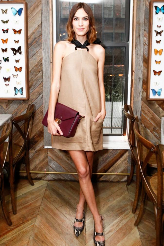 Alexa Chung, invitée au dîner privé Longchamp, le 23/06/2015 à New York City