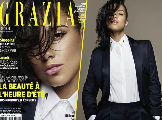 Photos : Alicia Keys, joue les tomboys stylés en couverture de Grazia France !