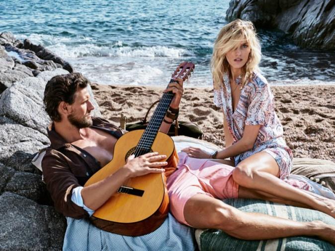 Photos : Anja Rubik et son homme vivent d'amour et d'eau fraiche dans la dernière campagne Massimo Dutti !