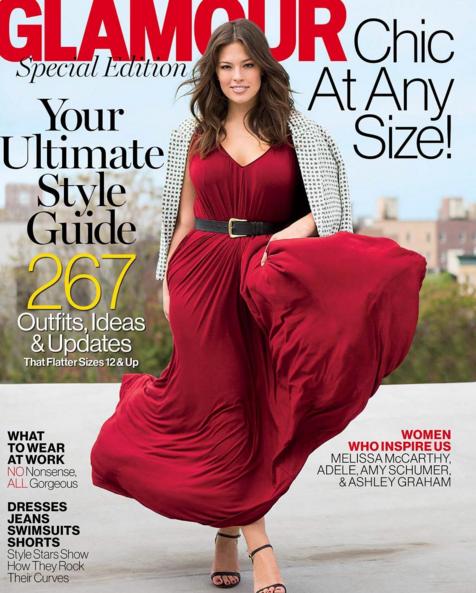 Photos : Ashley Graham : sexy et pulpeuse en couverture de Cosmopolitan Mexique et Glamour US !