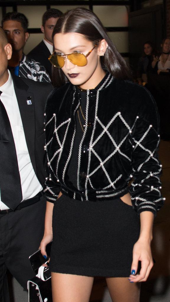 Bella Hadid au défilé DKNY à New York le 13 septembre 2016