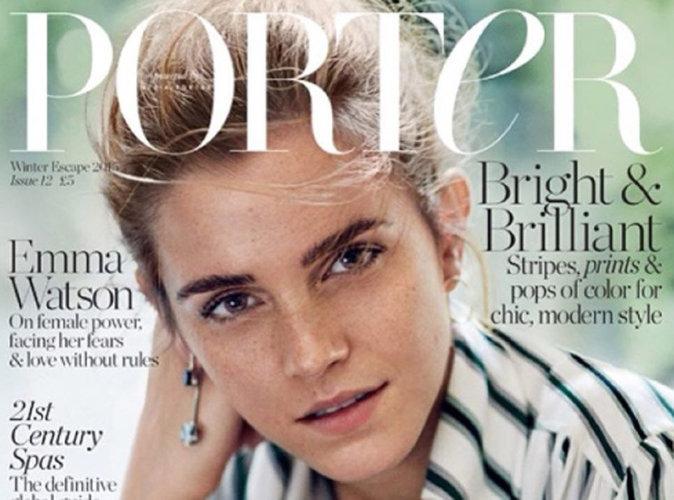"""Photos : beauté naturelle, Emma Watson représente les """"femmes incroyables"""" de Porter Magzine !"""
