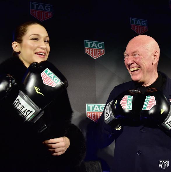 Photos : Bella Hadid est le nouveau visage de Tag Heuer