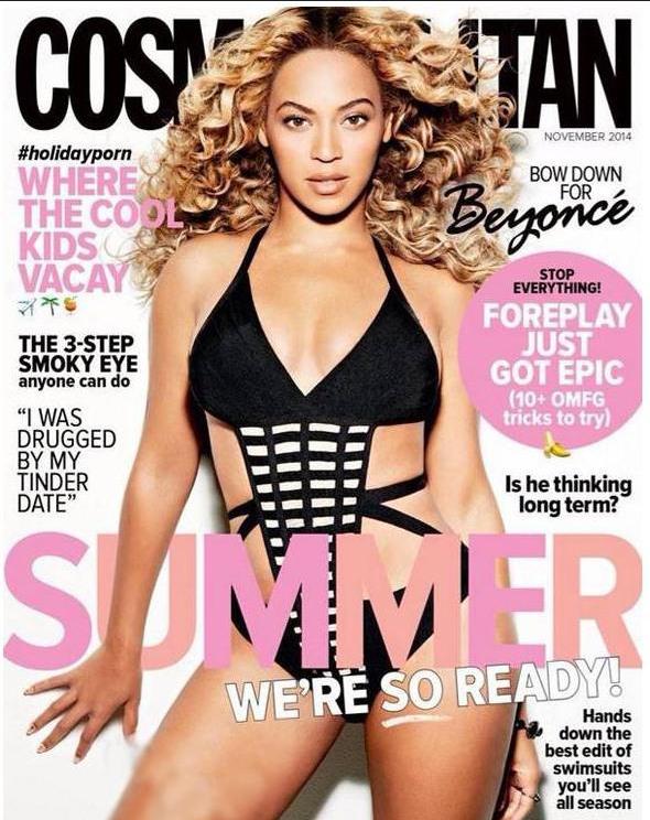 Photos :  Beyoncé, cover girl de Cosmopolitan, lance son e-shop sur l'application Spring !