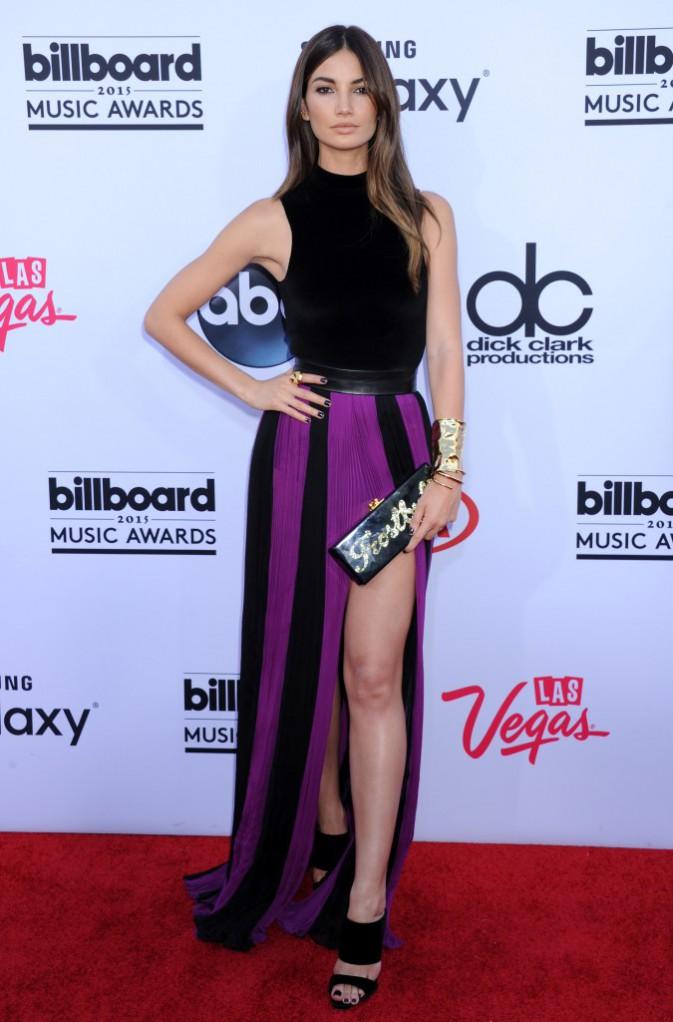Lily Aldridge en tenue Balmain, le 17 mai aux Billboard Music Awards 2015