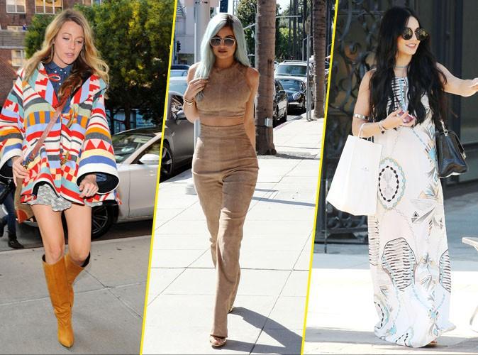 Photos : Blake, Kylie, Vanessa... De la tradition à la grande distribution, les stars craquent pour l'éthnique-chic !