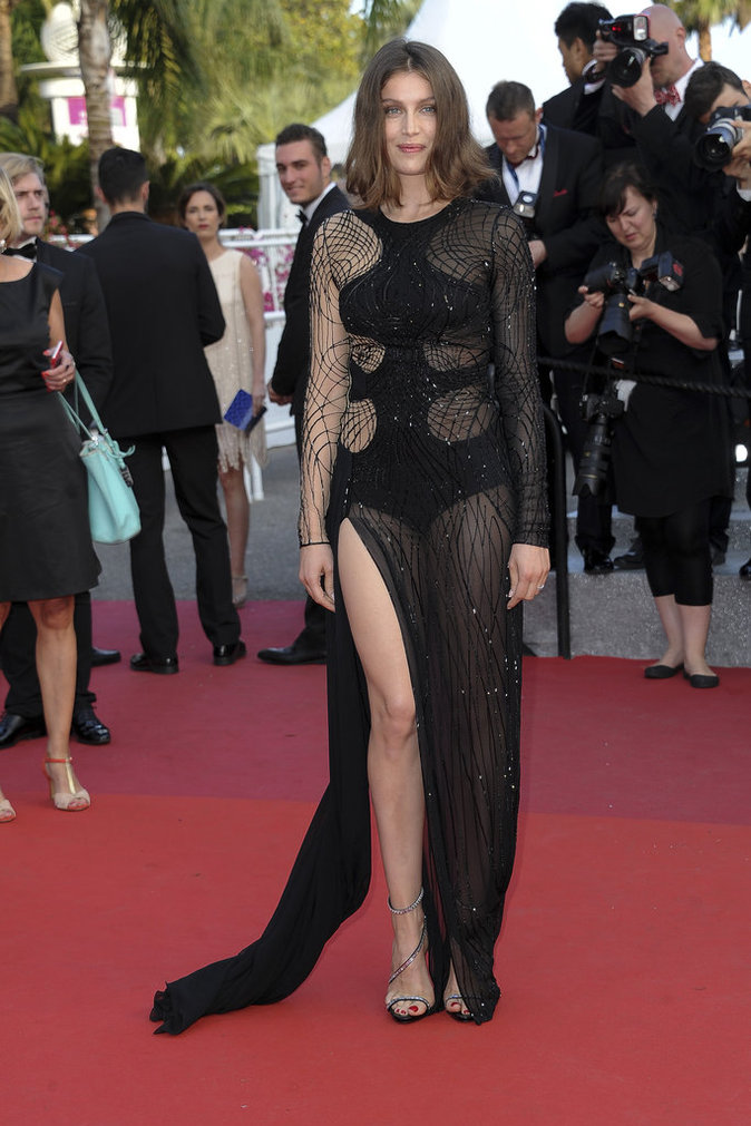 Laetitia Casta en Atelier Versace