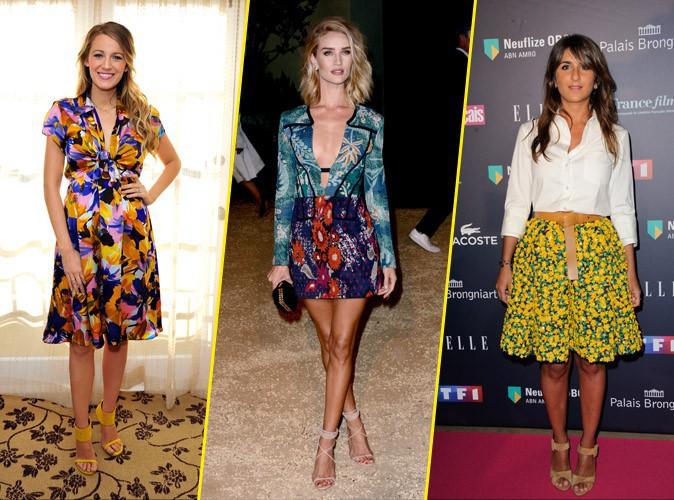 Photos : Blake, Rosie, Géraldine... la tendance des imprimés fleuris envahit le dressing des stars !