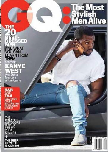 Kanye West en couverture de GQ