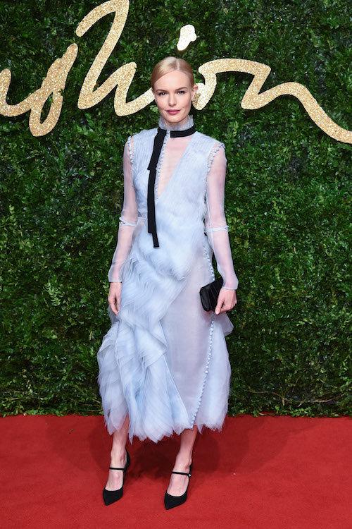 Kate Bosworth aux British Fashion Awards, à Londres le 23 novembre 2015