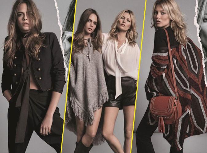 Photos : Cara Delevingne et Kate Moss, le duo de choc revient pour la collection automne 2015 de chez Mango !