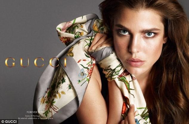 Charlotte Casiraghi pour la campagne Gucci Forever Now !