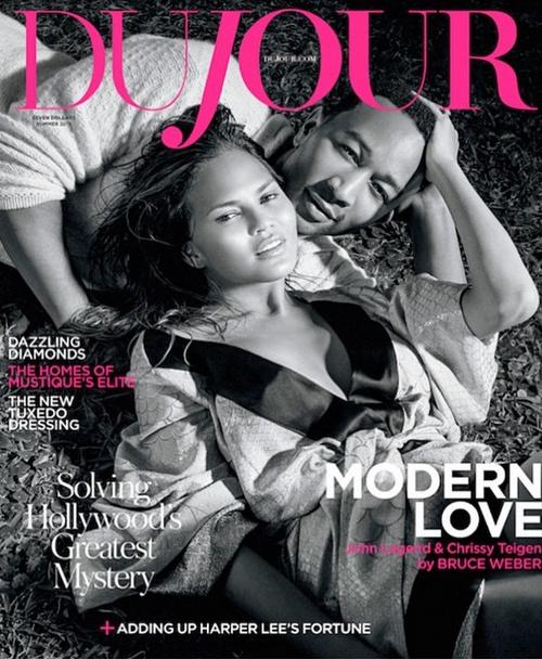 Chrissy Teigen X John Legend en couverture de Du Jour magazine
