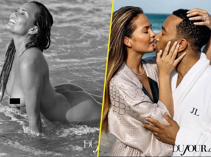 Photos : Chrissy Teigen X John Legend : amour, sensualité et nudité pour Du Jour magazine !