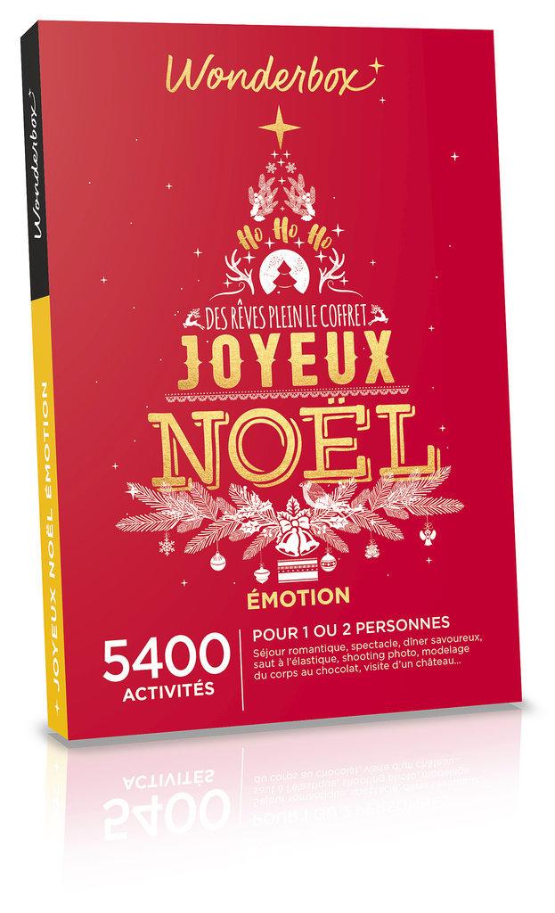 Coffret Joyeux Noël Émotion, Wonderbox. 49,90 €.