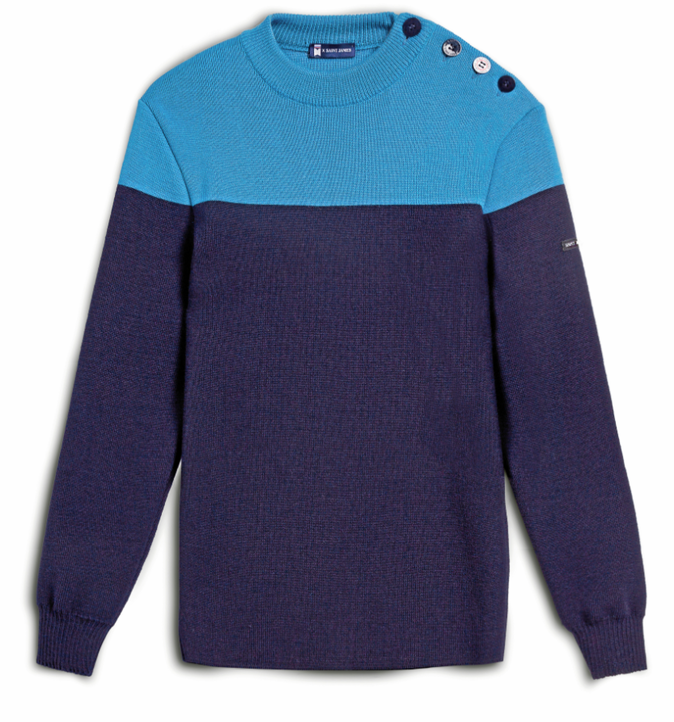 Pull marin en laine, Saint James. 119 €.