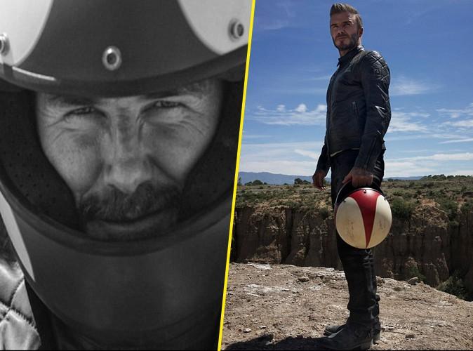 Photos : David Beckham : cuir et attitude rock'n'roll pour sa nouvelle campagne Belstaff !