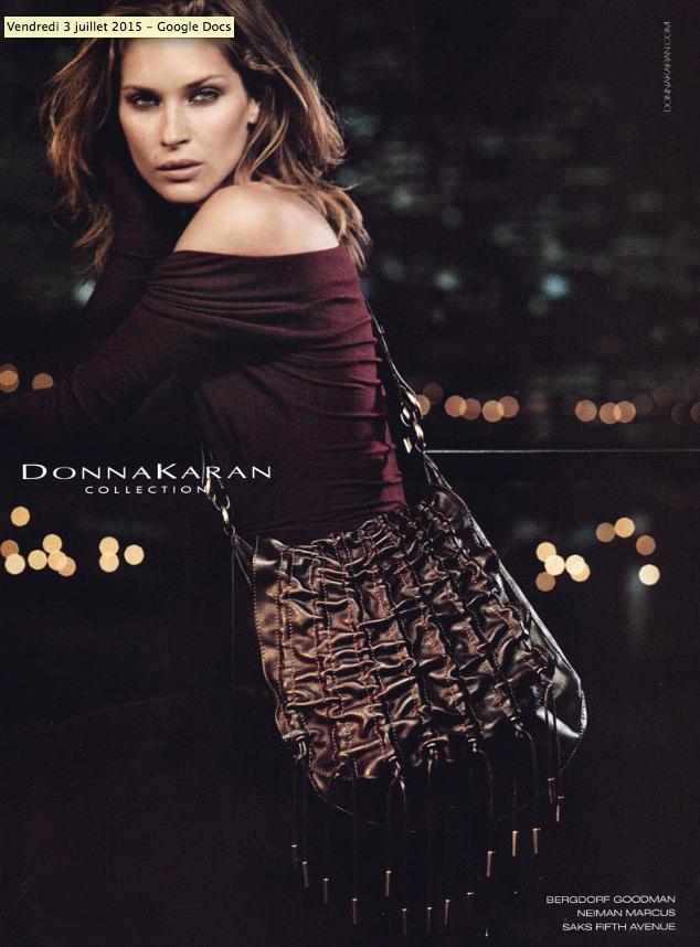 Erin Wasson pour Donna Karan