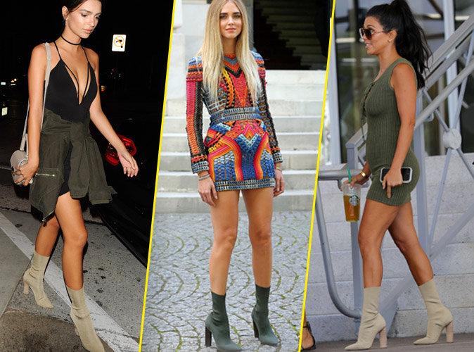 Photos : Emily Ratajkowski, Chiara Ferragni, Kourtney Kardashian... toutes accro aux bottines Yeezy !