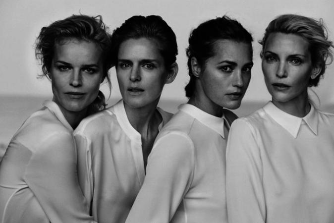 Eva Herzigova, Nadja Auermann, Yasmin Le Bon et Stella Tennant pour Giorgio Armani