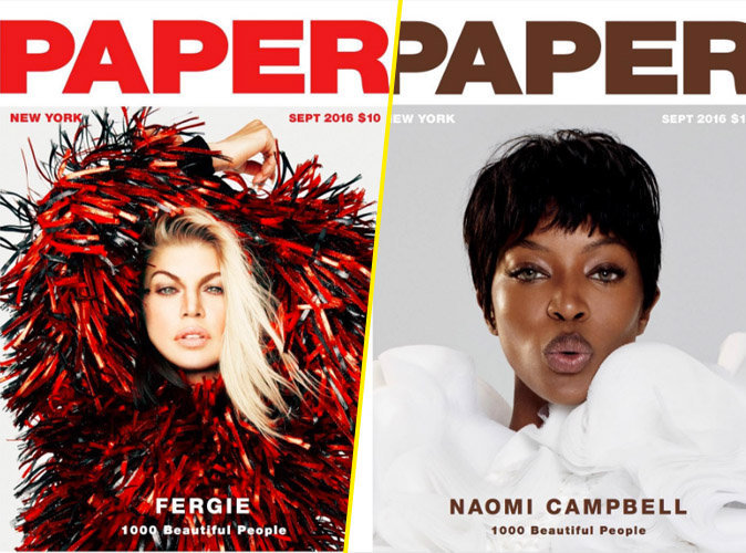 Photos : Fergie, Naomi Campbell... 1000 stars posent pour Paper Magazine !