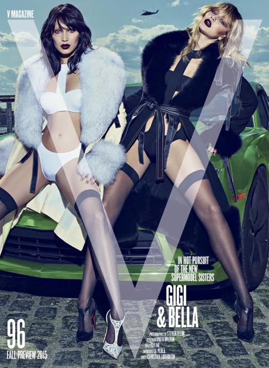 Photos : Gigi et Bella Hadid, explosives en SM chic pour V Magazine !