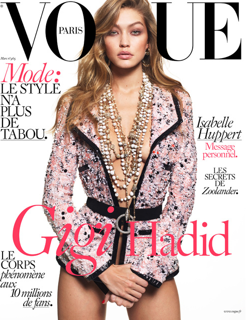 Gigi Hadid pour Vogue Paris