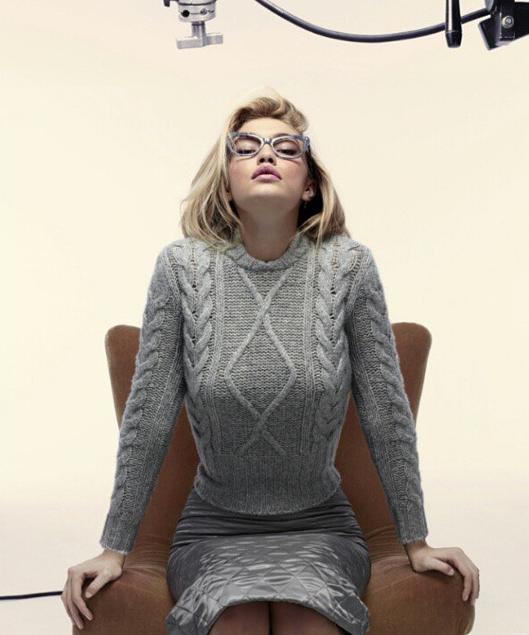 Gigi Hadid pour la campagen Automne Hiver 2015 de Max Mara