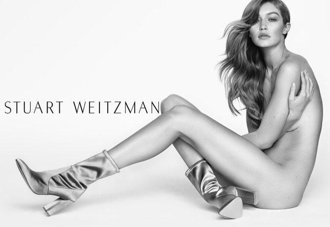 Gigi Hadid : pour Stuart Weitzman elle se met à nu !