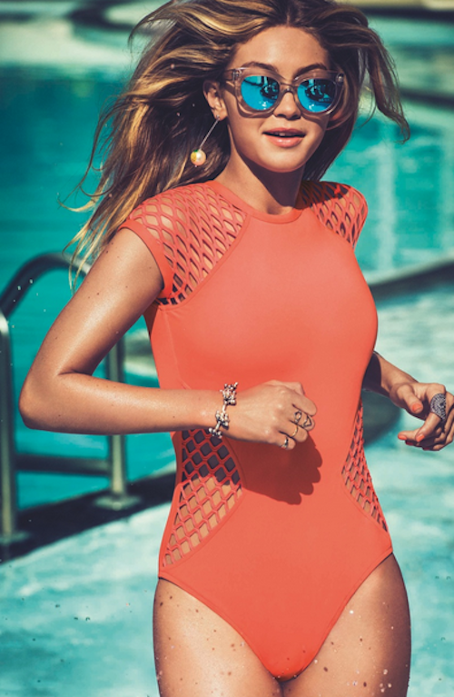 Photos : Gigi Hadid, une bombe estivale pour les lunettes Seafolly !