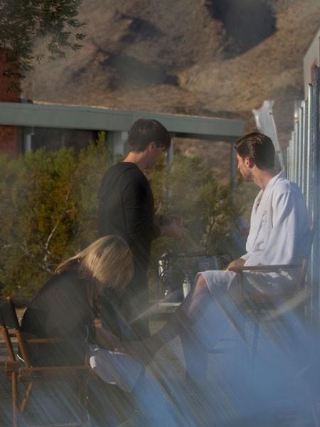 Ryan Barrett lors du shooting Versace Spring-Summer 2012 en Californie.