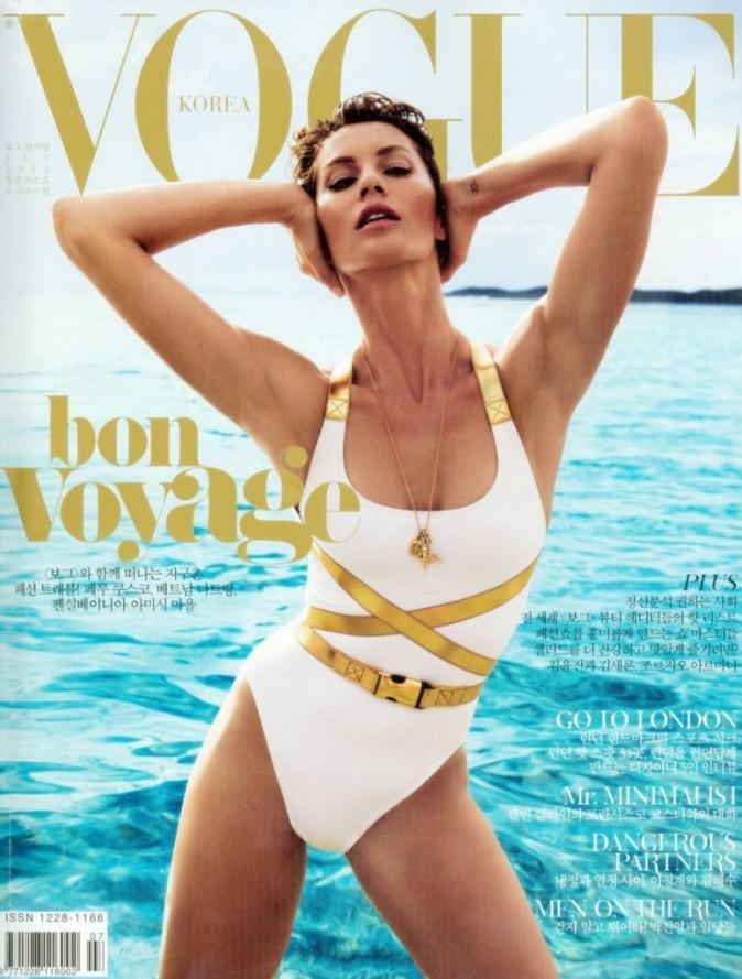 Gisele Bündchen en une du Vogue Korea.