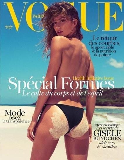 Gisele Bündchen en une du Vogue Paris.