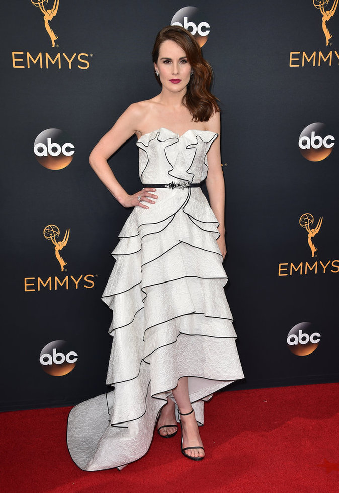 Michelle Dockery (Downton Abbey) en Oscar de la Renta