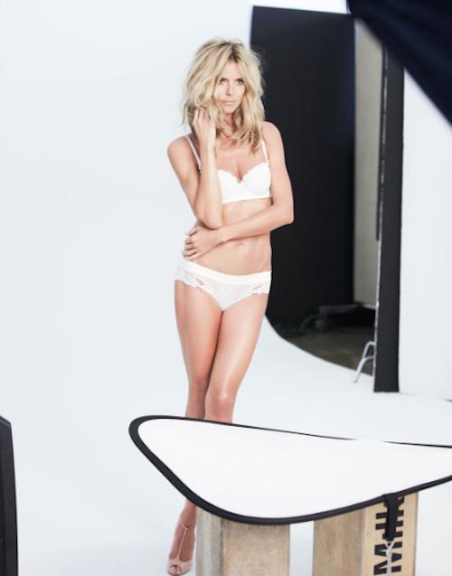 Photos : Heidi Klum topless et ultra sexy pour sa marque de lingerie !