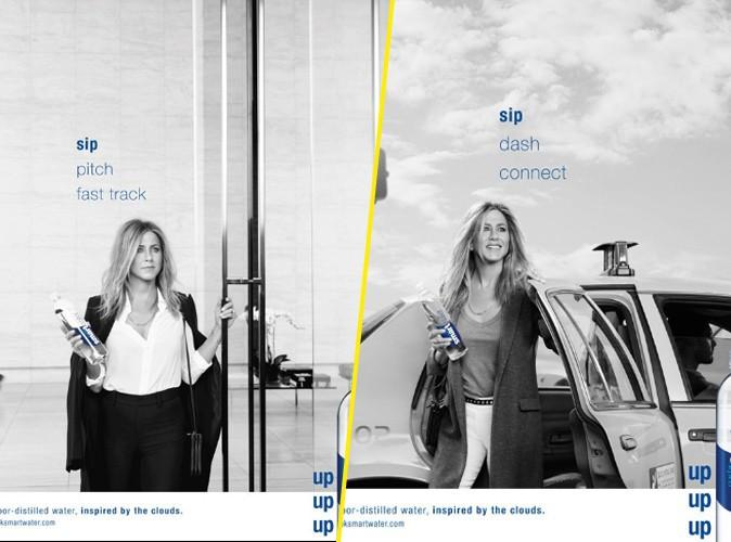 Photos : Jennifer Aniston, rafraichissante dans la dernière campagne Smartwater !