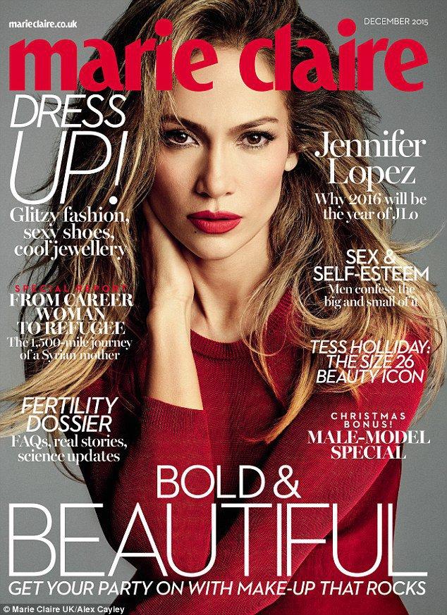 Jennifer Lopez : sensualité incarnée en une de Marie Claire UK !