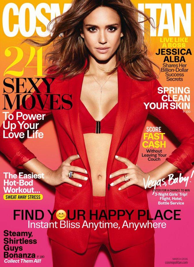 Jessica Alba en couverture de Cosmopolitan US