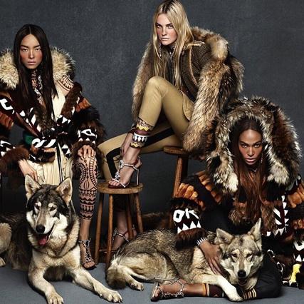 Fei Fei Sun, Caroline Trentini et Joan Smalls pour la nouvelle campagne automne - hiver 2015 de DSquared2