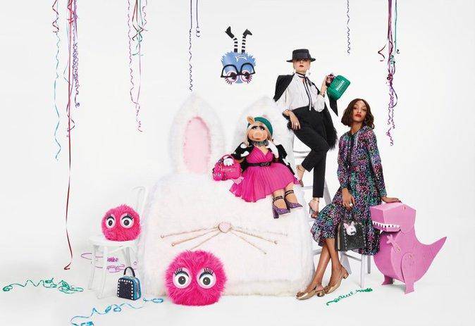 Photos : Jourdan Dunn et Miss Piggy : duo de choc pour la nouvelle campagne Kate Spade