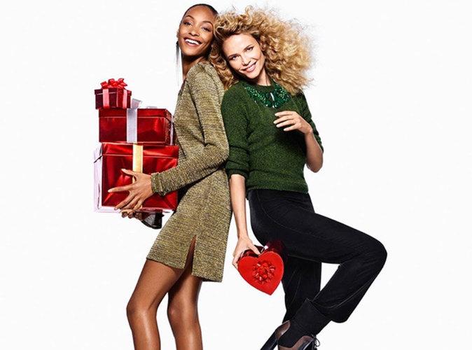 Photos : Jourdan Dunn et Natsha Poly, reines de Noël scintillantes pour H&M !