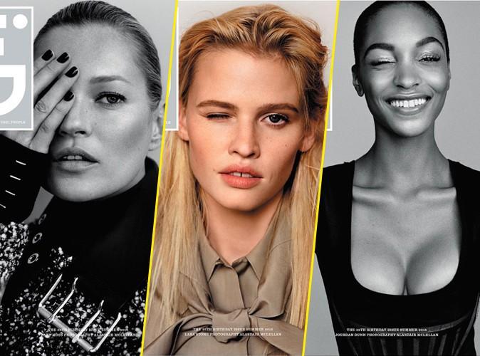 Mercredi 27 mai : Kate Moss pose aux côtés de Jourdan Dunn et Lara Stone pour i-D magazine