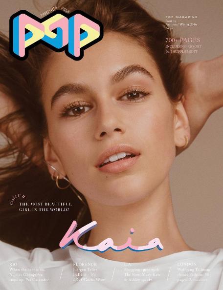 Photos : Kaïa Gerber : sa toute première couverture Pop Magazine en Chanel !