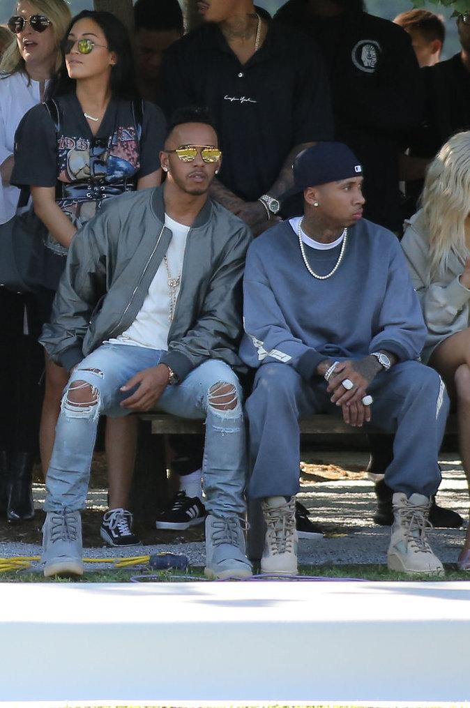 Lewis Hamilton et Tyga au défilé Yeezy Season 4 à New York le 7 septembre 2016