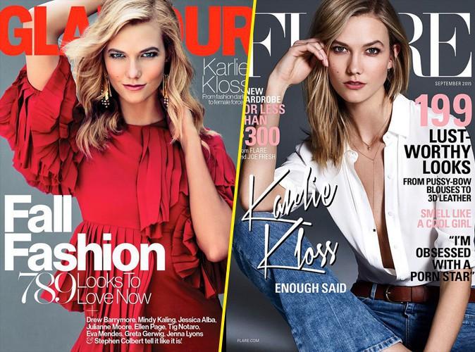 Photos : Karlie Kloss : cover girl épatante pour Glamour et Flare magazine !