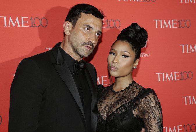 Nicki Minaj et Riccardo Tisci sur le red carpet de la soirée Time Magazine