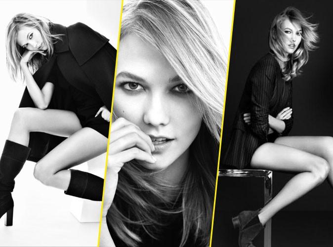 Photos : Karlie Kloss : le black and white lui va bien... elle dévoile sa sensualité pour Marc Fisher !